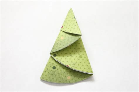 Folded Paper Tree - how to make paper trees for scrapbooking and cards