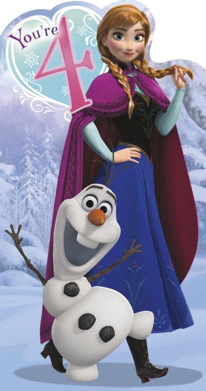 frozen themed birthday ecard uk greetings frozen 4th birthday card whsmith