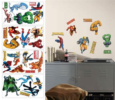 marvel heroes wall stickers marvel heroes peel and stick appliques