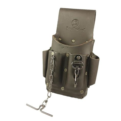 Back Pocket Tool Pouch Leather Belt Loop Organizer Holster Scissor Poc shop southwire one size fits all leather belt at lowes