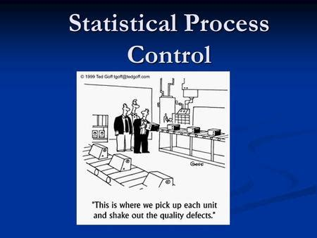 supplement 6 statistical process operations management statistical process