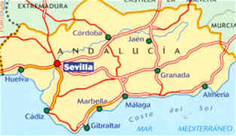 Mappa Stradale N 578 Andalusia Andalucia Spagna Con