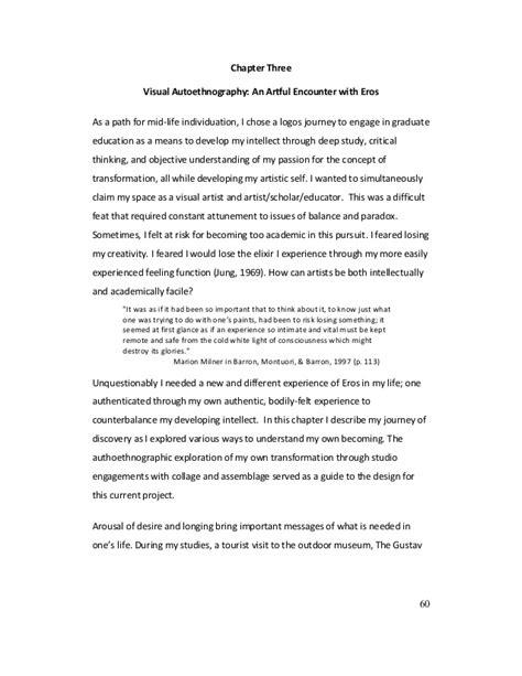 Autoethnography Exle Essays by Autoethnography Thesis Autoethnography Thesis 28 Images Autoethnography 28 Autoethnography