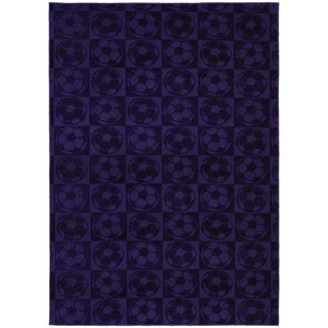 7 ft rugs garland rug soccer balls purple 5 ft x 7 ft area rug cl260a06008488 the home depot