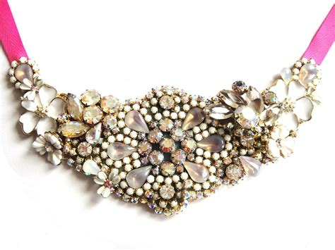 Handmade Statement Jewelry - statement wedding jewelry bridal necklace etsy handmade 11