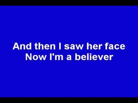 i m a lyrics smash i m a believer lyrics shrek