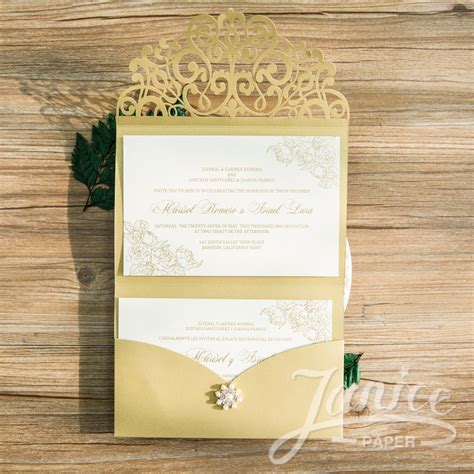 Unique Fold Out Wedding Invitations by Wholesale Laser Cut Wedding Invites