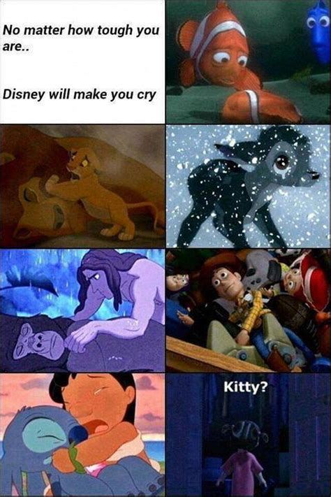 Dirty Disney Memes - doesnt matter how tough you are disney will always make you cry hilarious pinterest