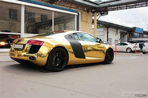 matte gold matte gold audi r8 in russia autoevolution