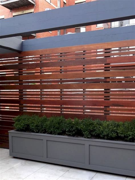 awesome modern front yard privacy fences ideas