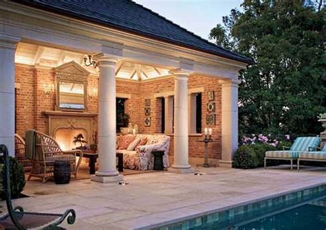 backyard patio designs with fireplace the outdoor patio fireplace homeside to poolside