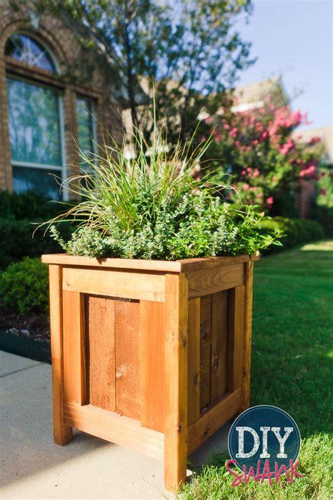 Cedar Planters Plans by Diy Cedar Planters
