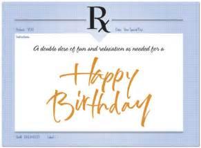 birthday prescription card birthday cards posty cards