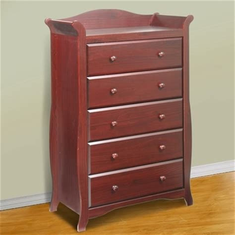 storkcraft cherry aspen 5 drawer dresser chest of