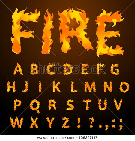 printable flame font 2012 font design vector free vector 4vector
