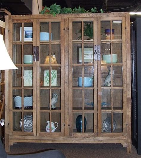 mission style glass door cabinet tropical buffets