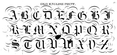 printable old english fonts english letter font 7 best images of printable old english
