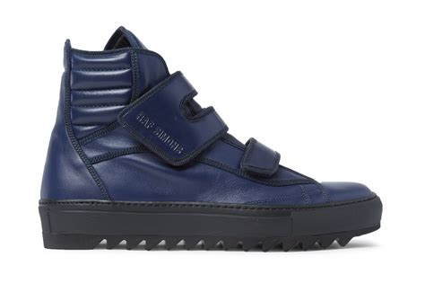 raf simons leather high top sneakers hypebeast