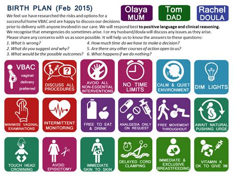 Vbac Birthplan Icons By Olayar On Deviantart Birth Plan Template Icons