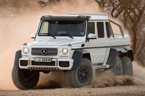 2014 mercedes g63 amg 6x6 front three quarter dirt