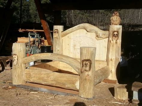 creation timber king pioneer log homes bed
