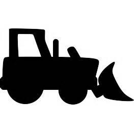 bulldozer silhouette paw print stencil cake ideas and designs