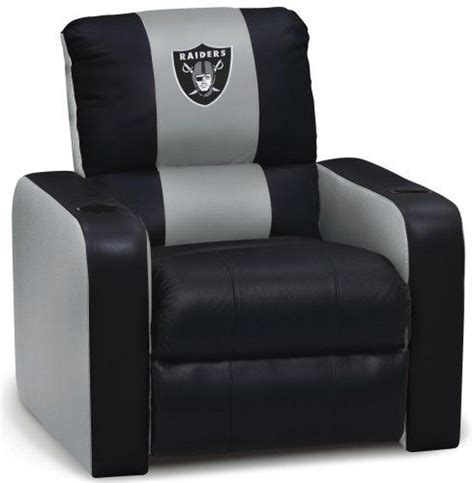 Raiders Recliner by Dreamseat Oakland Raiders Nfl Leather Recliner By