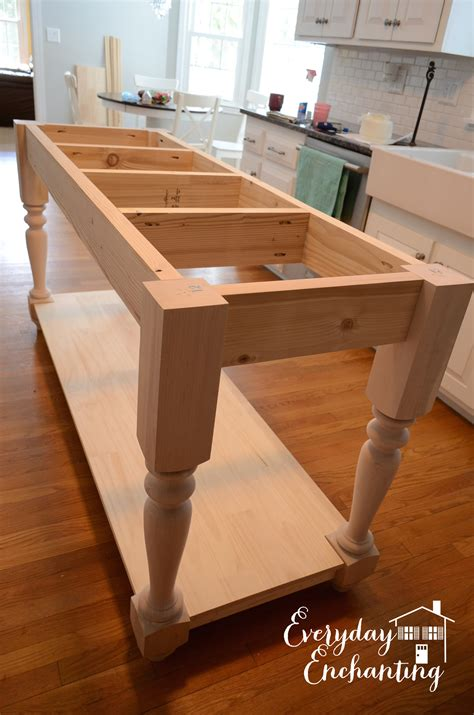 Diy Kitchen Island Table White Modified Kitchen Island From The Handbuilt Home Island Plans Diy Projects
