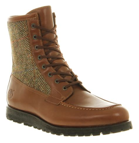 brown leather timberland boots timberland heritage alpine boot brown leather in brown for