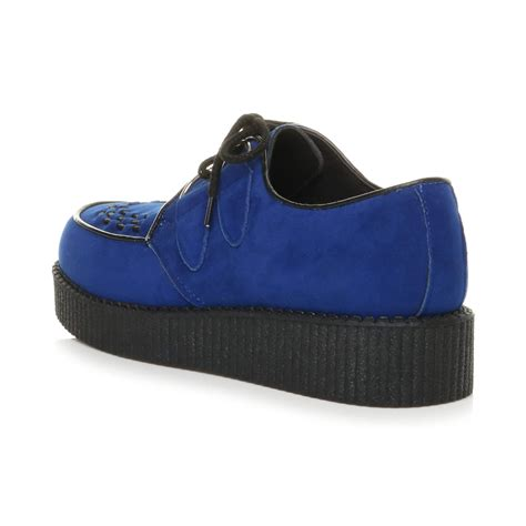 teddy shoes mens lace up grunge rockabilly brothel creepers