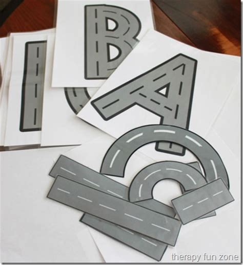 printable road letters how i use the road writing therapy fun zone