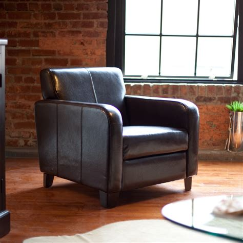 armchair club maxon leather club chair accent chairs at hayneedle