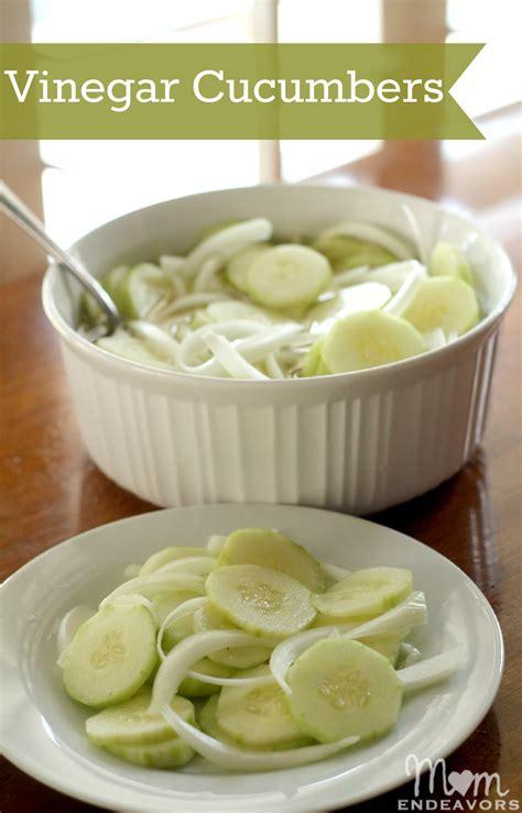 cucumber recipe vinegar cucumber salad