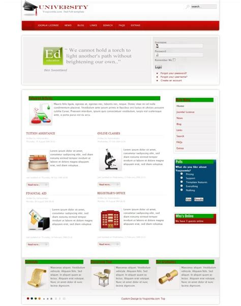 joomla education templates educational joomla template