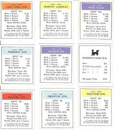 Monopoly Property Cards Template by Monopoly Property Cards Template Printablemonopoly