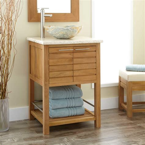 Bathroom Vanity With Shelf Wood Open Shelf Vanity Signature Hardware
