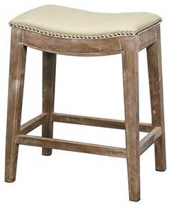 Rustic Counter Stools Kitchen - elmo bonded leather counter stool gray finish and beige rustic bar stools and kitchen