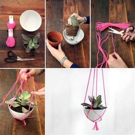 How To Make A Hanger Holder - diy hanging plant holder home design garden