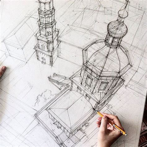 Architektur Skizzen Zeichnen by Freehand Architectural Sketches Demonstrate Immense Skill