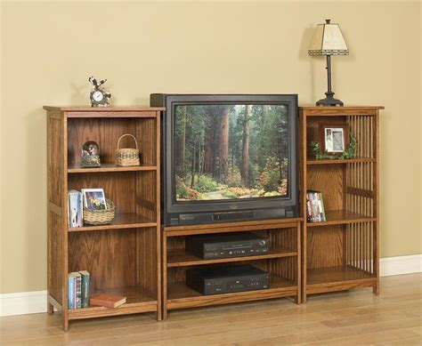 mission entertainment center bookcase