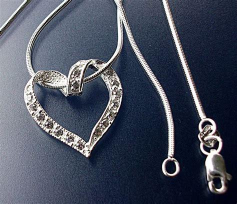 joyeria con cadenas de plata joyer 237 a collar cadena cola de rat 243 n y coraz 243 n zirconia