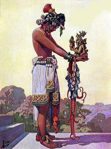 imagenes vestimenta maya hombres antiguos mayas ilustraciones de herbert m herget