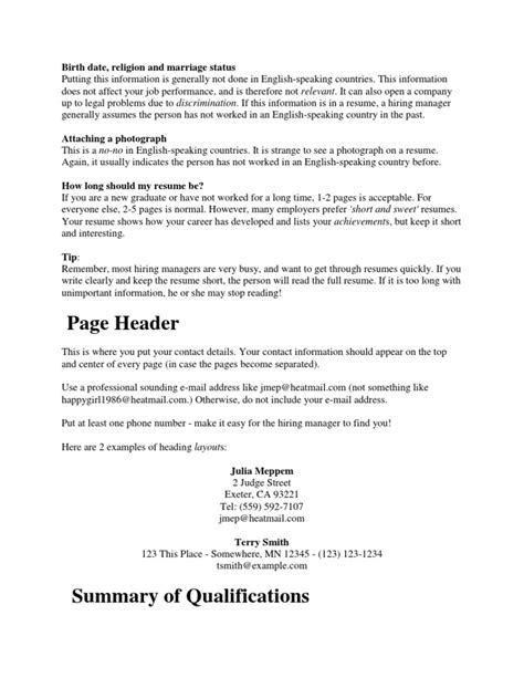 does a resume to be one page resume graduate