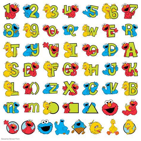 printable alphabet letters sesame street new sesame street font cricut cartridge from