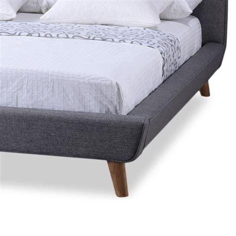 grey upholstered queen bed jonesy upholstered queen platform bed in gray bbt6537