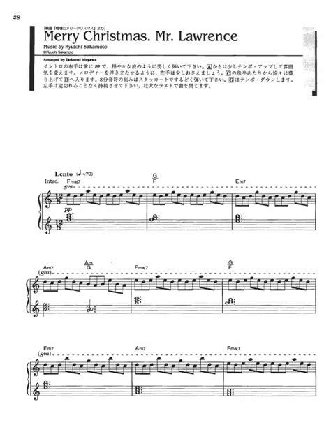 merry christmas  lawrence violin sheet