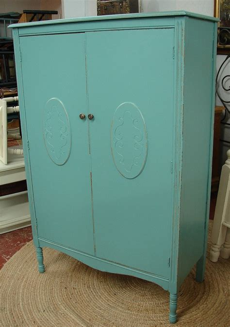Blue Armoire by Reclaimed Vintage Robin Egg Blue Painted Armoire Wardrobe