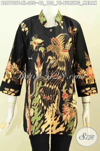 Blus Batik Merak koleksi terkini blus batik krah shanghai baju batik tulis