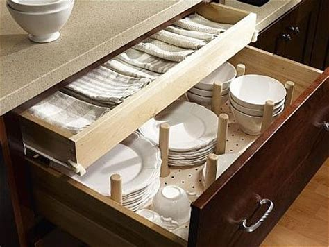 Kitchen Drawers For Dishes Cabinet Organization And Storage