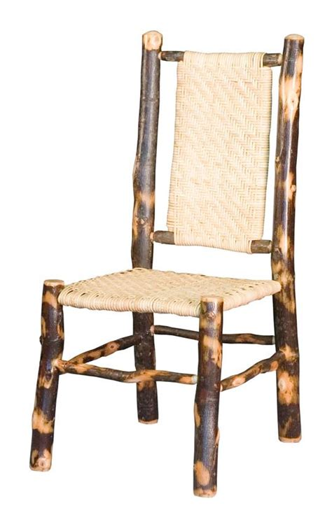 amish rustic hickory dining chair with back and seat